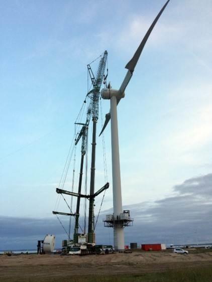Ветряная турбина в Тибороне, Дания. Фото: Ecoswing