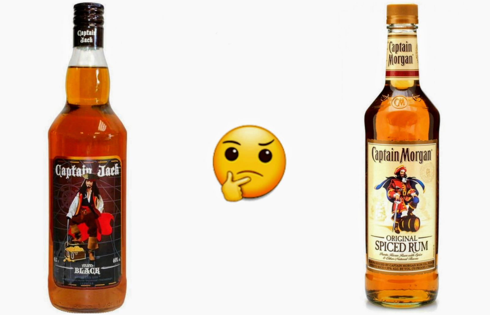 Captain Jack против Captain Morgan. Коллаж: Ракурс