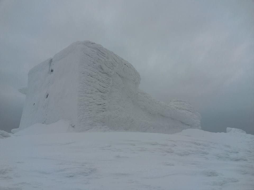 Фото: Видимость на горе Поп Иван Черногорский, 8 февраля