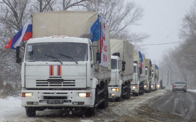 Окончено формирование 74-й автомобильной колонны сгуманитарной помощью для Донбасса