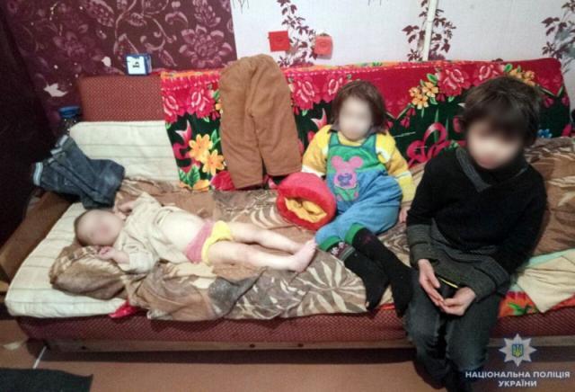 Горе-мать натрое суток закрыла детей вквартире