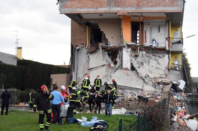 Девять человек пострадали при взрыве газа вжилом доме вИталии