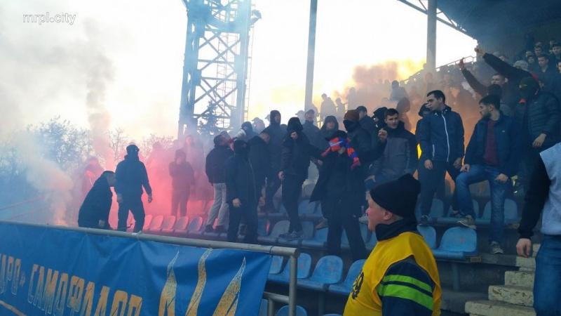 УМаріуполі вболівальники «Динамо» побилися зполіцією під час матчу