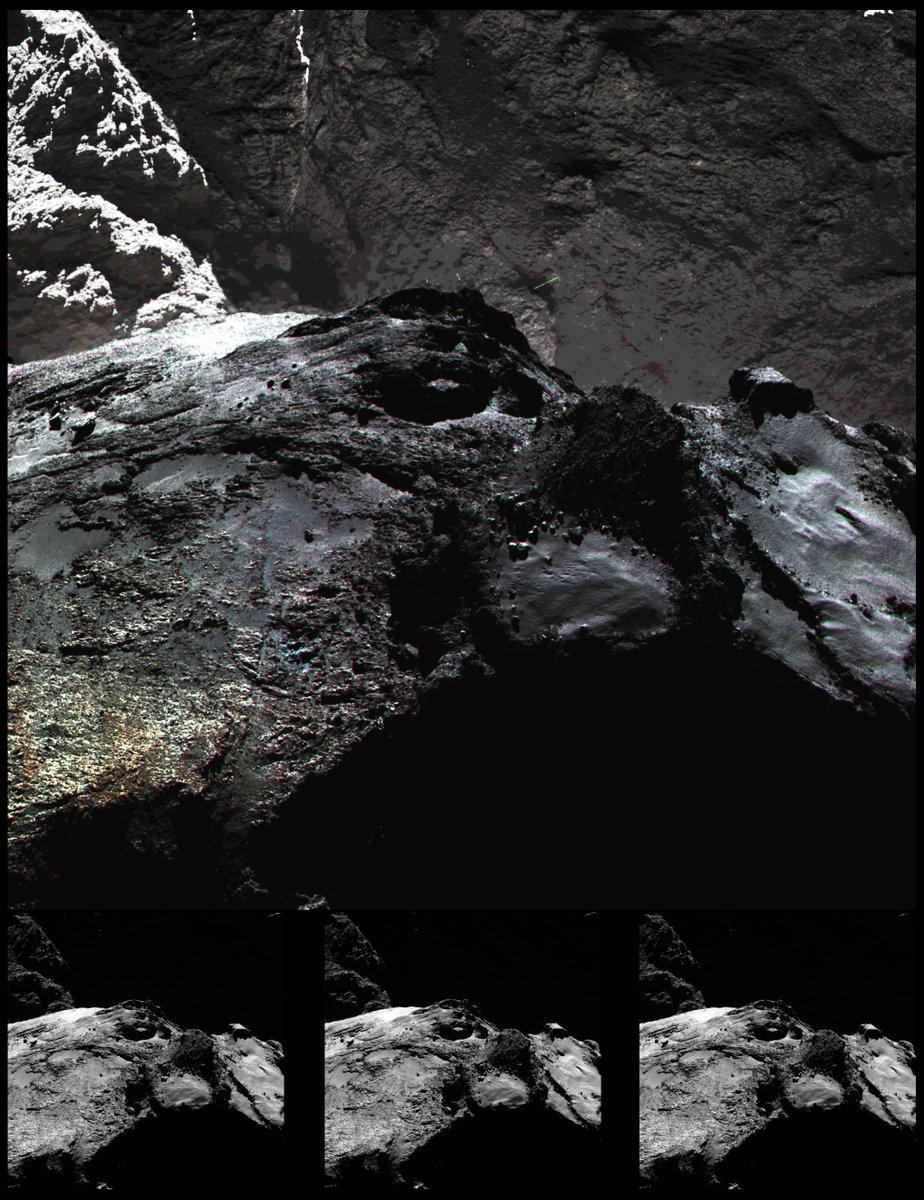 «Снегопад» наповерхности кометы Чурюмова— Герасименко: изумительная гифка