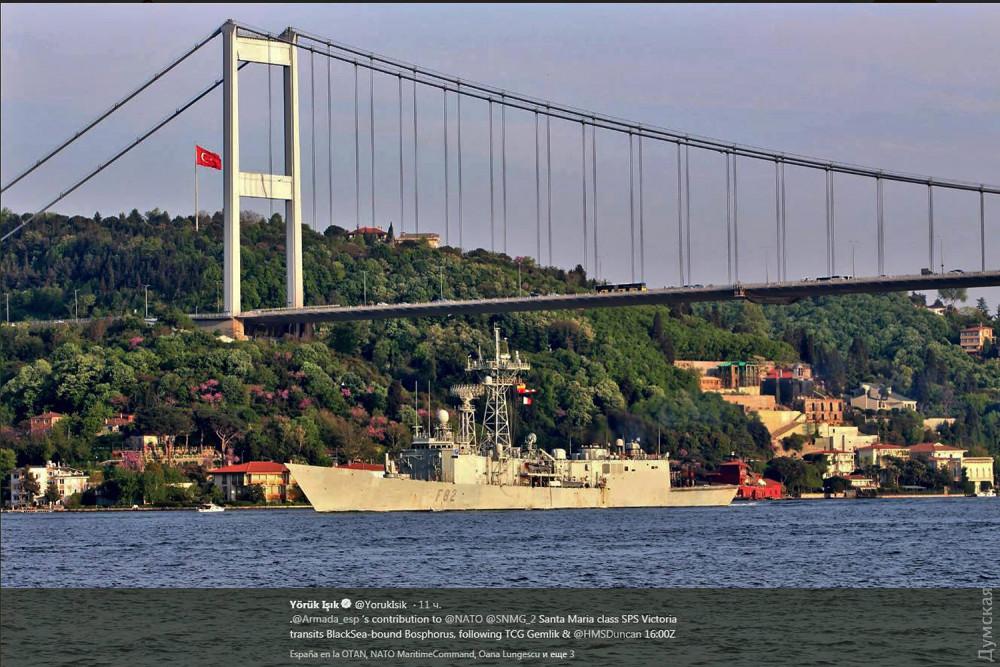 ВЧерное море вошла группа военных кораблей НАТО