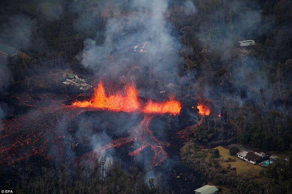 Вулкан наГавайях уничтожил Форд  Mustang