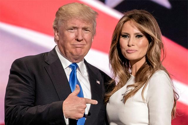Трамп написал имя супруги сошибкой