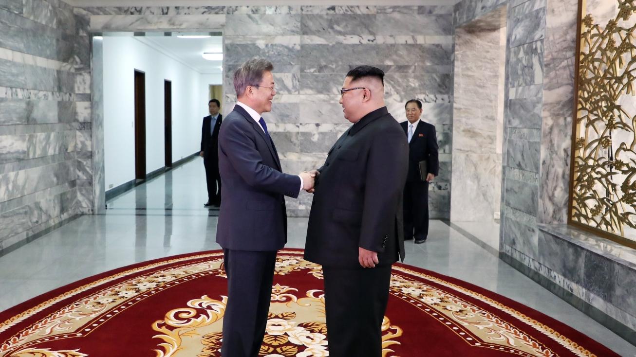 Ким Чен Ын та Мун Чжэ Ин. Фото: Twitter