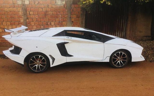 Механик изБразилии сделал изхетчбэка Фиат Uno Lamborghini Aventador