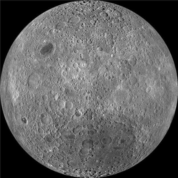 """""""Темная сторона"""" Луны. Фото: NASA"""