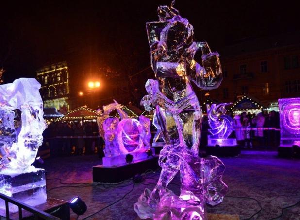 Фестиваль ледовых скульптур во Львове. Скульптура-победитель