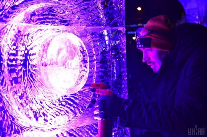 Фестиваль ледовых скульптур во Львове. Фото: УНИАН