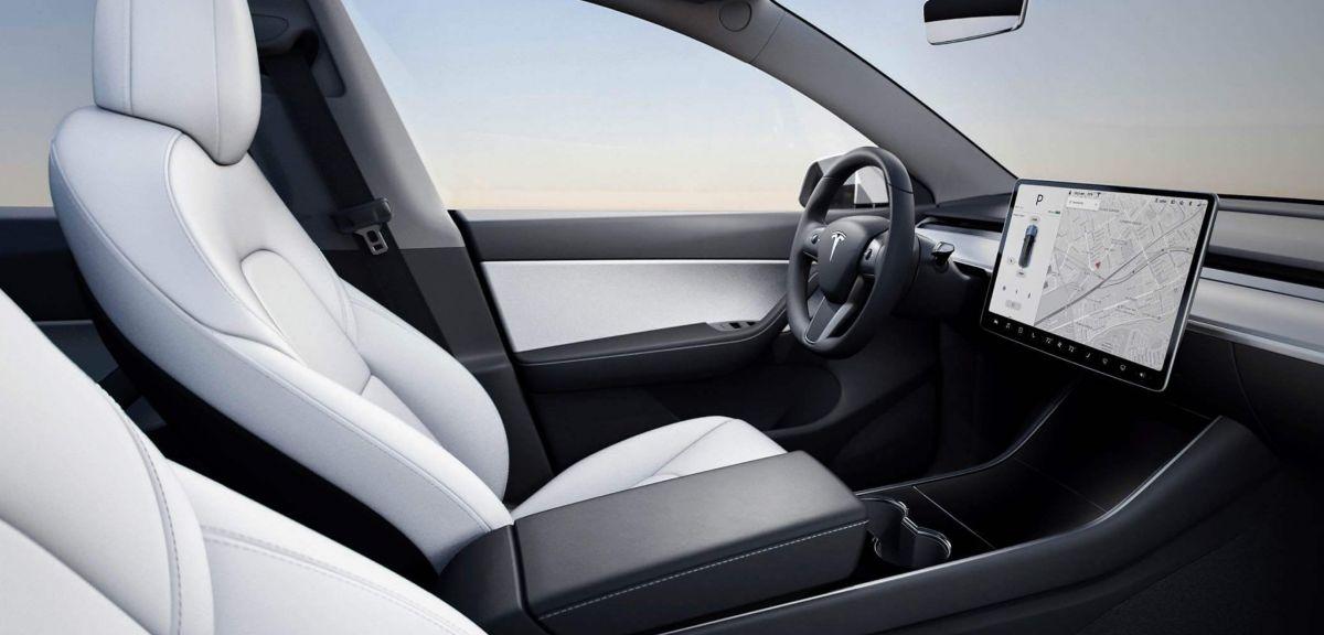 Салон нового Tesla Model Y. Фото: Tesla