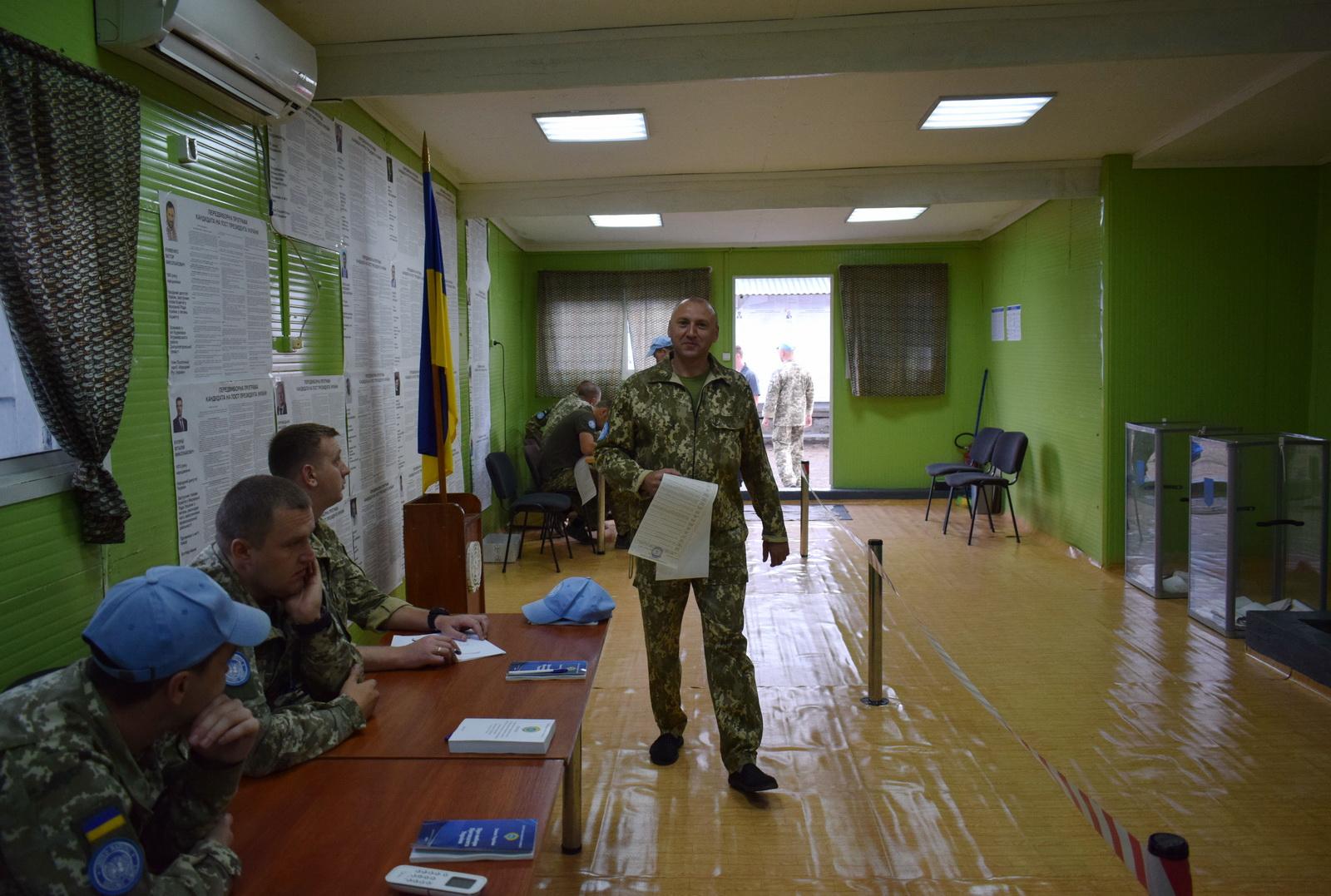 Как голосуют украинские военные. Фото: mil.gov.ua