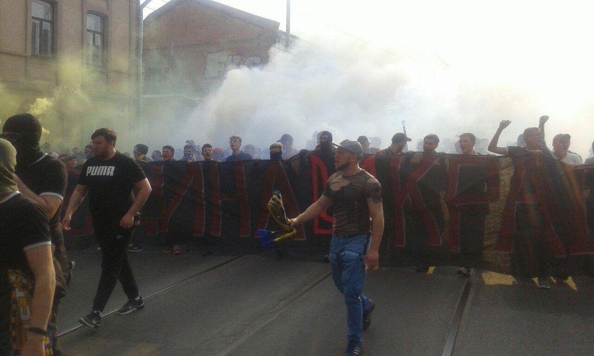 Ультрас пройшли маршем у Харкові