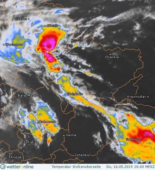 Погода в Україні 17 травня: оголошено штормове попередження. ФОТО: wetteronline