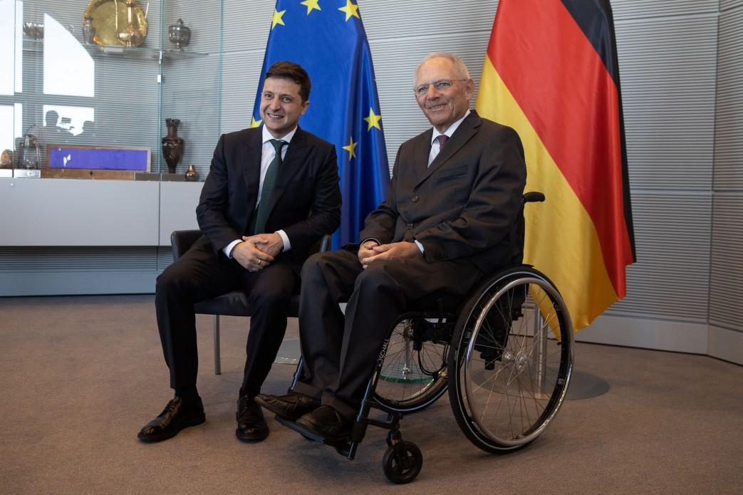 Владимир Зеленский и Вольфганг Шойбле, фото: Администрация президента