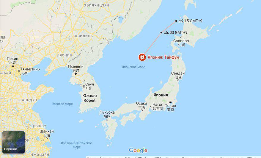 Потужний тайфун у Японії призвів до жертв і евакуації тисяч жителів. Фото: google