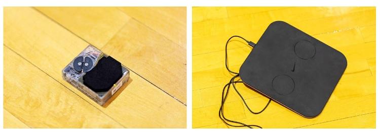 Двигун для автоматичної шнурівки і зарядний пристрій для нього. Фото: theverge.com
