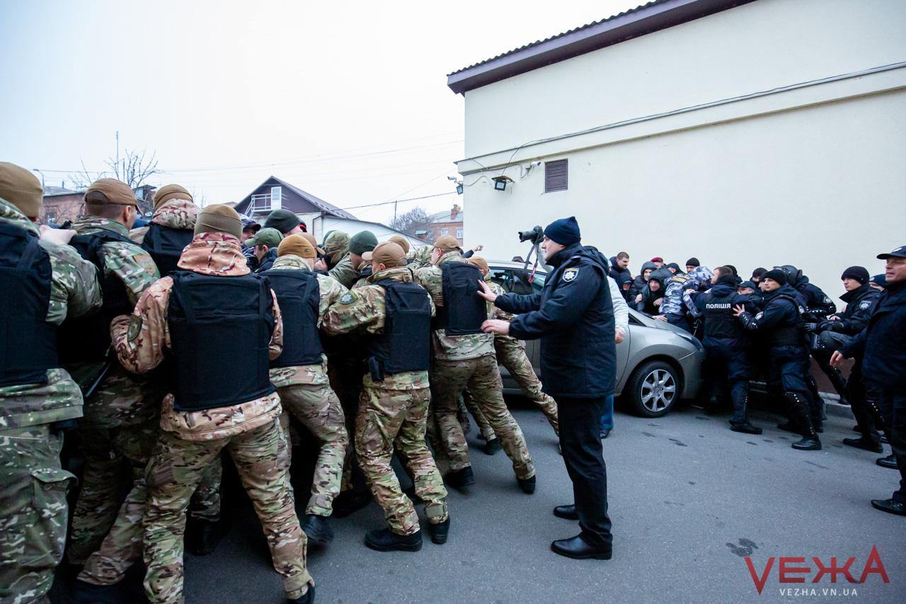 У Вінниці на акції протесту сталася сутичка з поліцією. Фото: «Vежа»