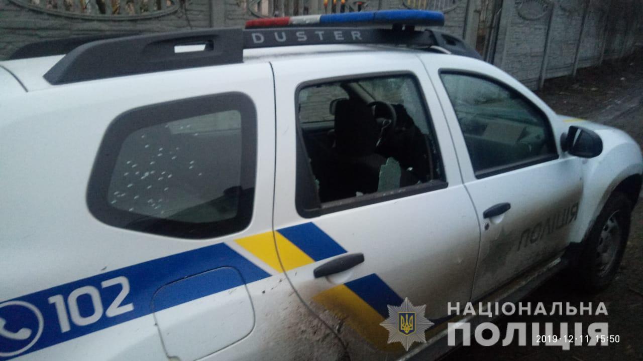 Стрельба на Киевщине: задерживают злоумышленника, который открыл огонь по патрульному авто. Фото: Нацполиция