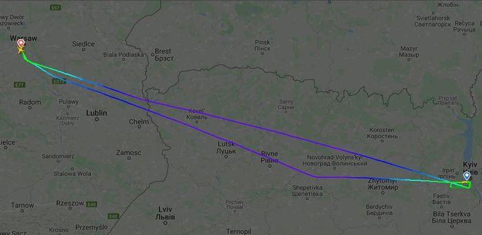 Скріншот карти. Фото: Flight Radar 24
