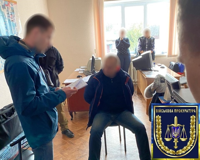 Затримання директора Шосткинського казенного заводу «Зірка». Фото: Військова прокуратура