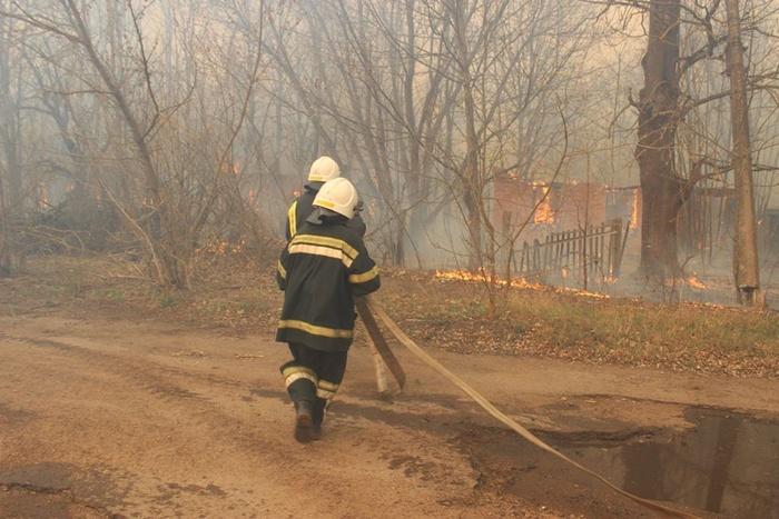 Пожежа в Чорнобилі. Фото: Facebook
