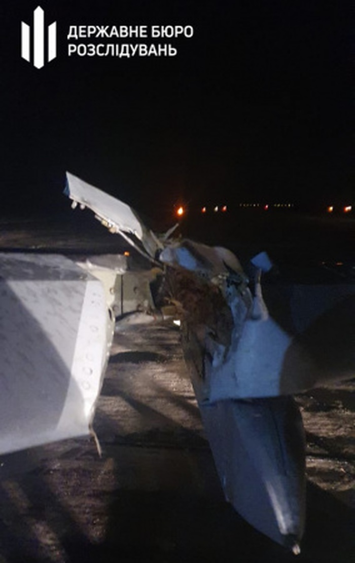 Винищувач МіГ-29 здійснив аварійну посадку в Запорізькій області. Фото: ДБР