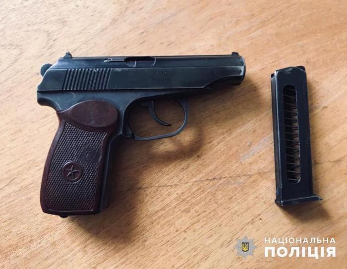 Изъятое оружие, фото: полиция Киевской области