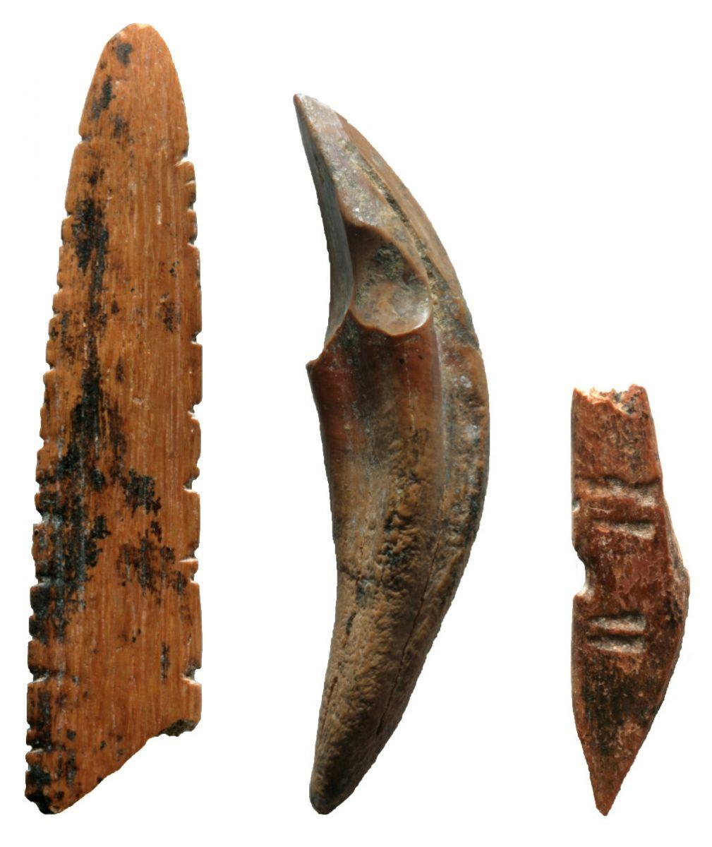 Инструменты, которые, вероятно, использовались для охоты на маленьких обезьян и белок, фото: MC Langley