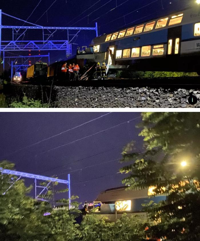 Зіткнення потягів у Чехії забрало життя машиніста, 35 потерпілих / Фото: novinky.cz, Твіттер