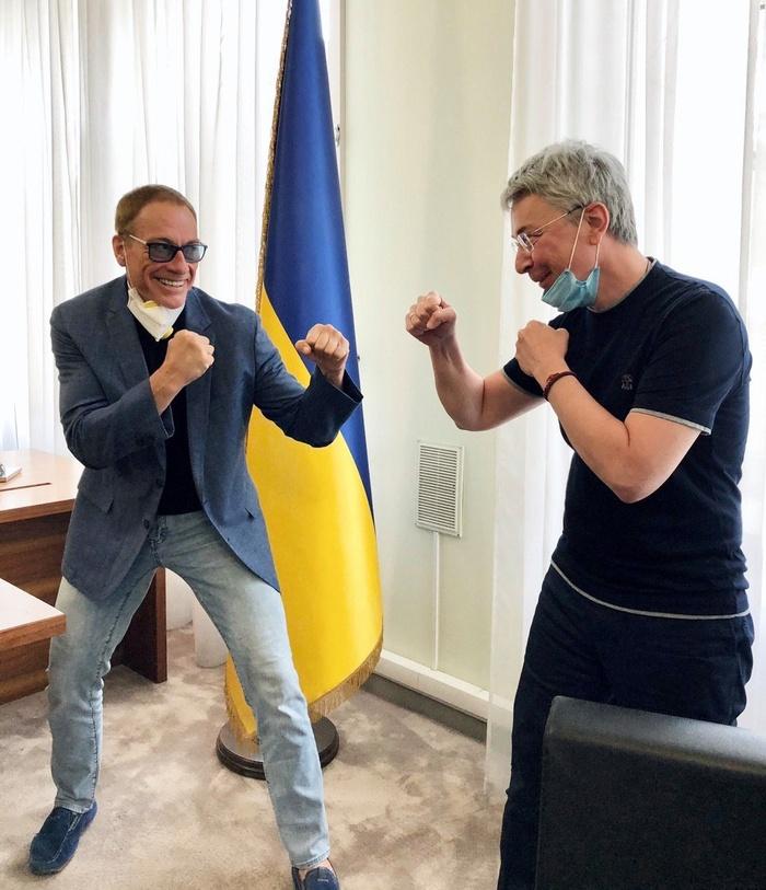 Жан-Клод Ван Дамм і Олександр Ткаченко. Фото: Facebook