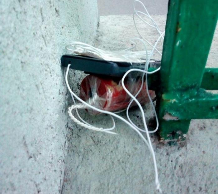 Взрывное устройство обезвредили в центре Киева, фото: пресс-служба полиции Киева