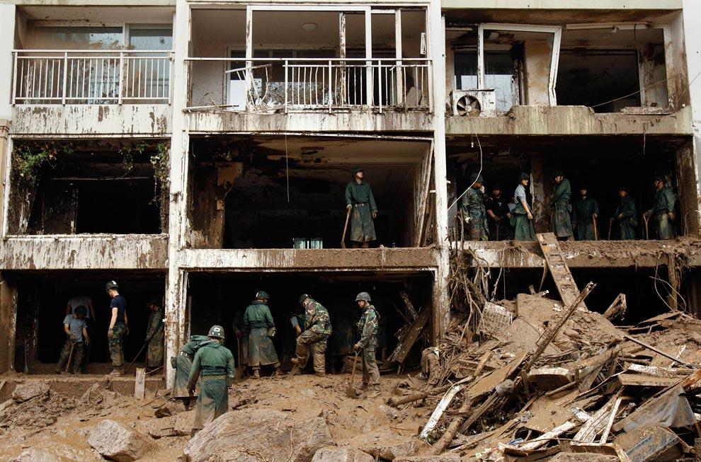 Ливни и затопления в Южной Корее. Фото: BigPicture