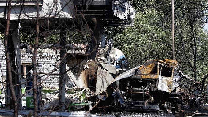 Вибухнула АЗС у Волгограді, стовп вогню зметнувся вище житлових висоток. Фото: Газета.Ru