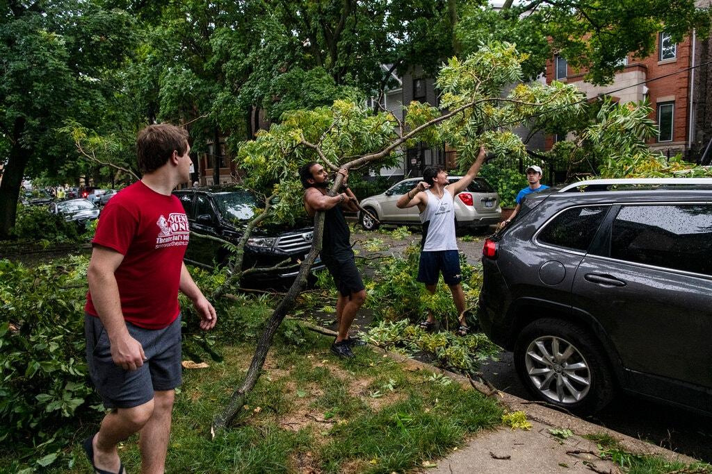 Наслідки шторму. Фото: The New York Times