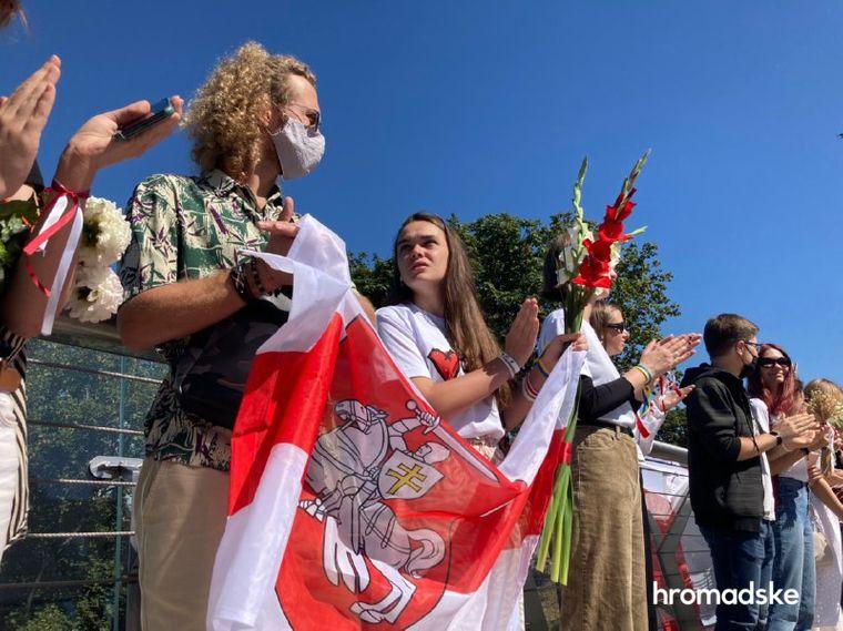 Акция солидарности в Киеве. Фото: Громадське