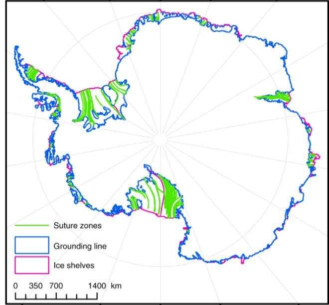 Розташування льодовиків. Карта: The Guardian