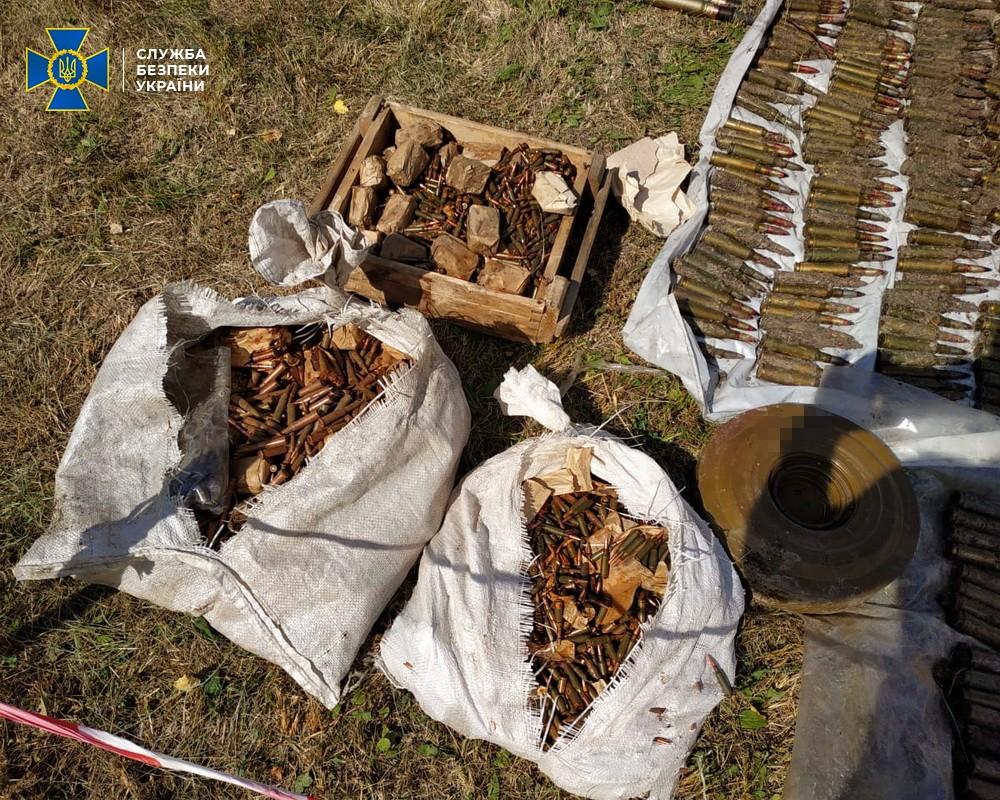 Обнаруженное оружие и патроны. Фото: пресс-служба СБУ