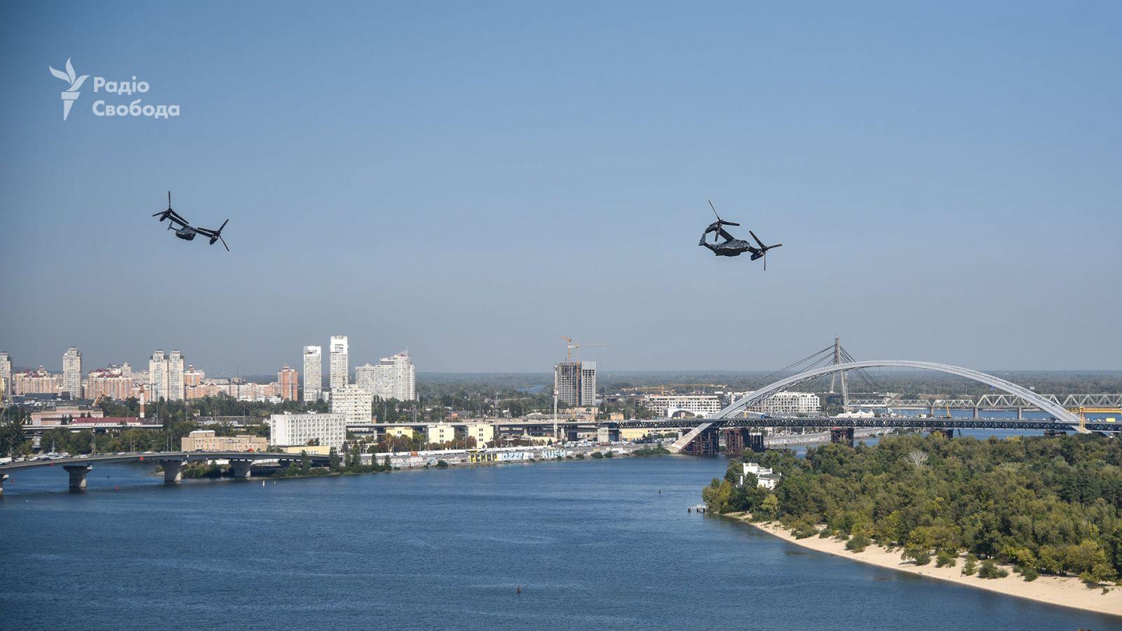 Самолеты НАТО над Киевом. Фото: Радио Свобода