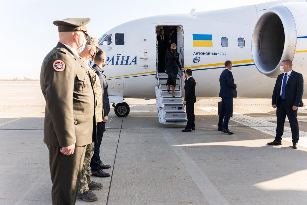 Владимир и Елена Зеленские прибыли на церемонию. Фото: пресс-служба ОП