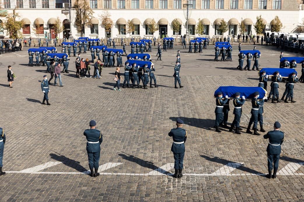 Церемония прощания. Фото: пресс-служба ОП