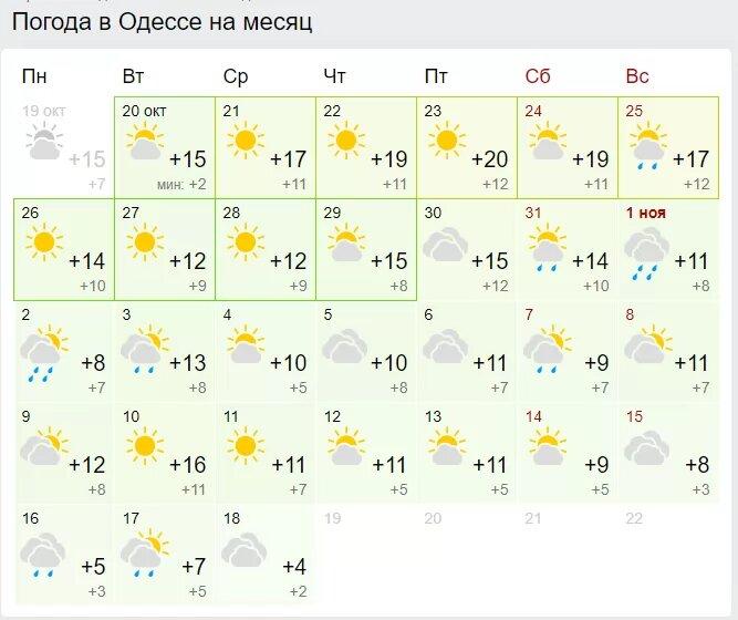 Погода в Одесе. Скриншот: Gismeteo