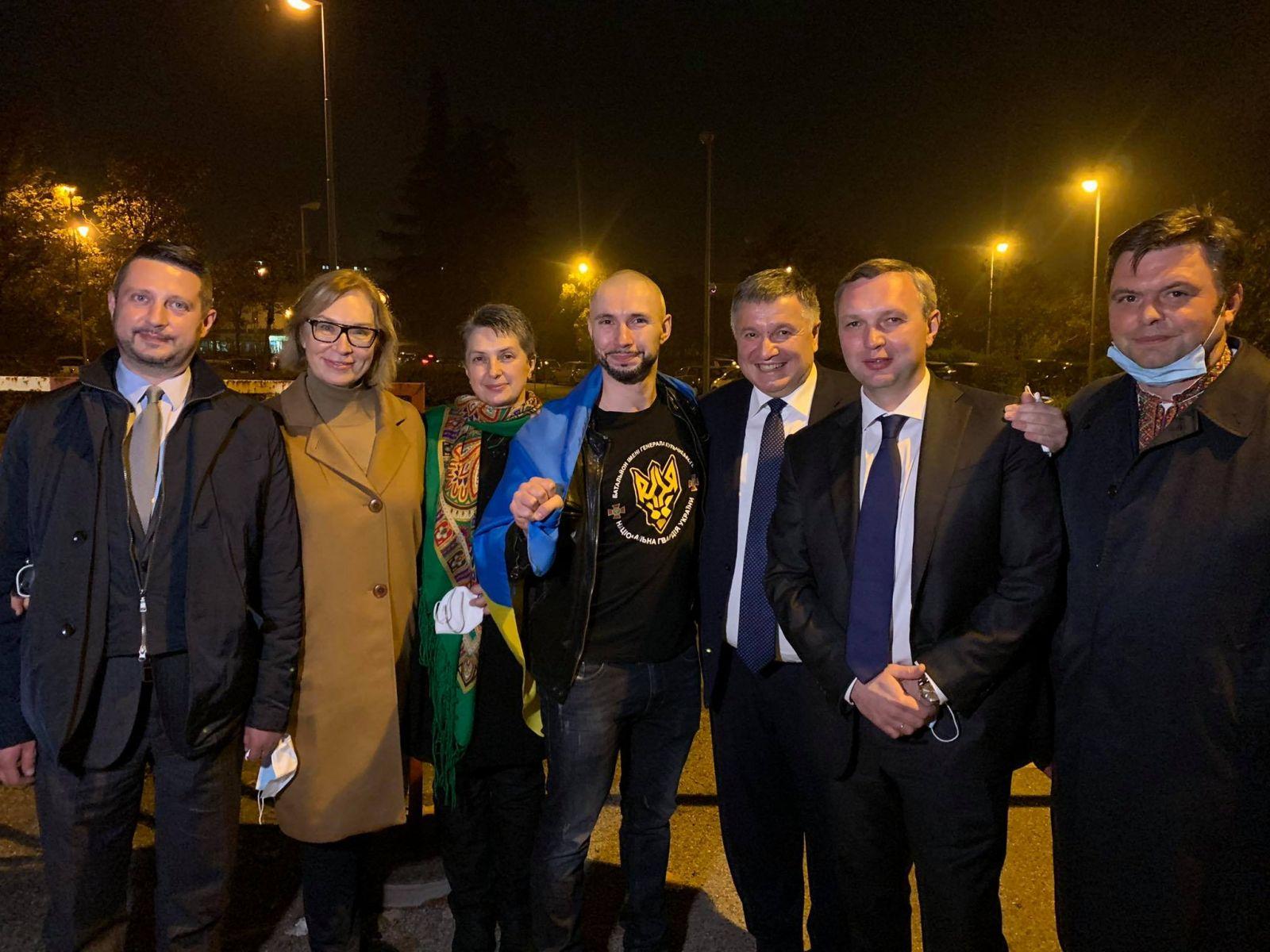 Виталий Маркив после суда. Фото: пресс-служба МВД
