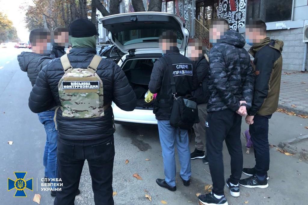 Задержание женщины. Фото: пресс-служба СБУ