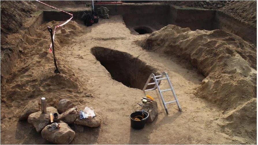"Место раскопок. Фото: заповедник ""Хортица"""