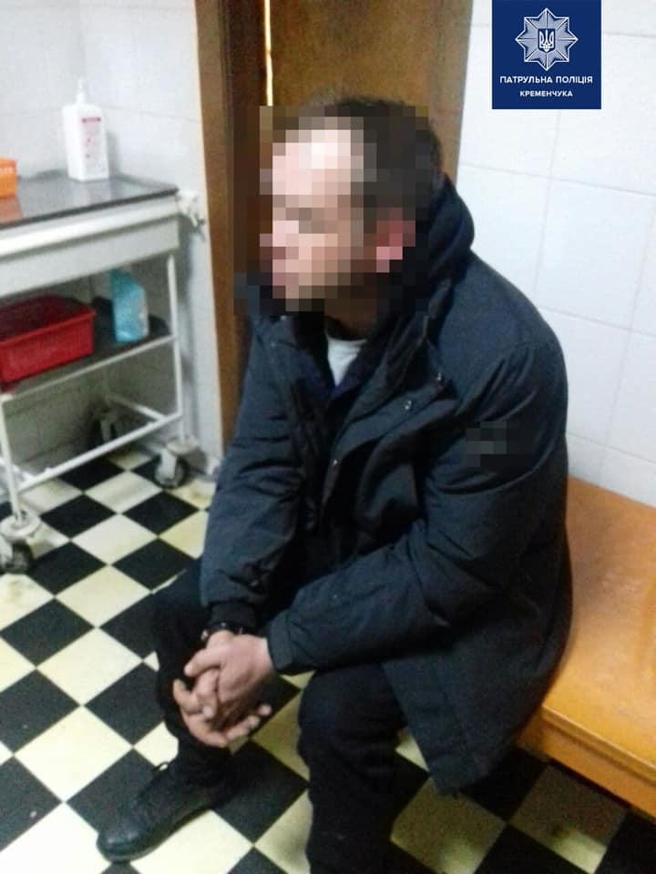 Задержанный мужчина. Фото: пресс-служба полиции