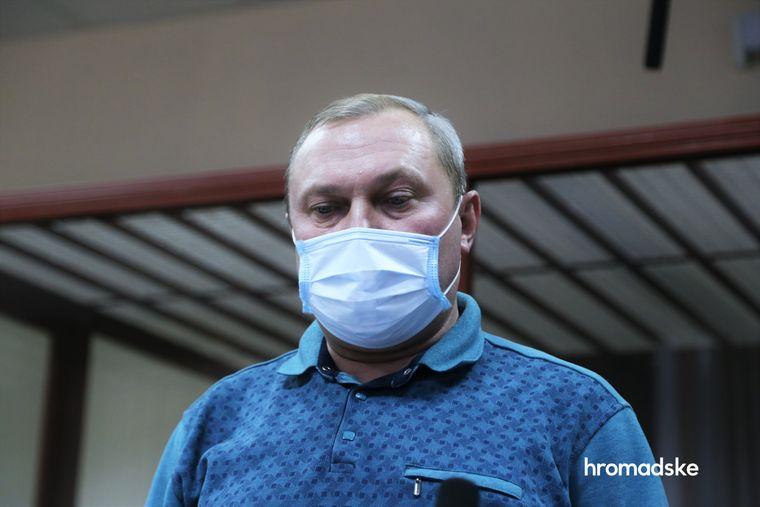 Вячеслав Глазунов в Печерском суде, фото: «Громадське»