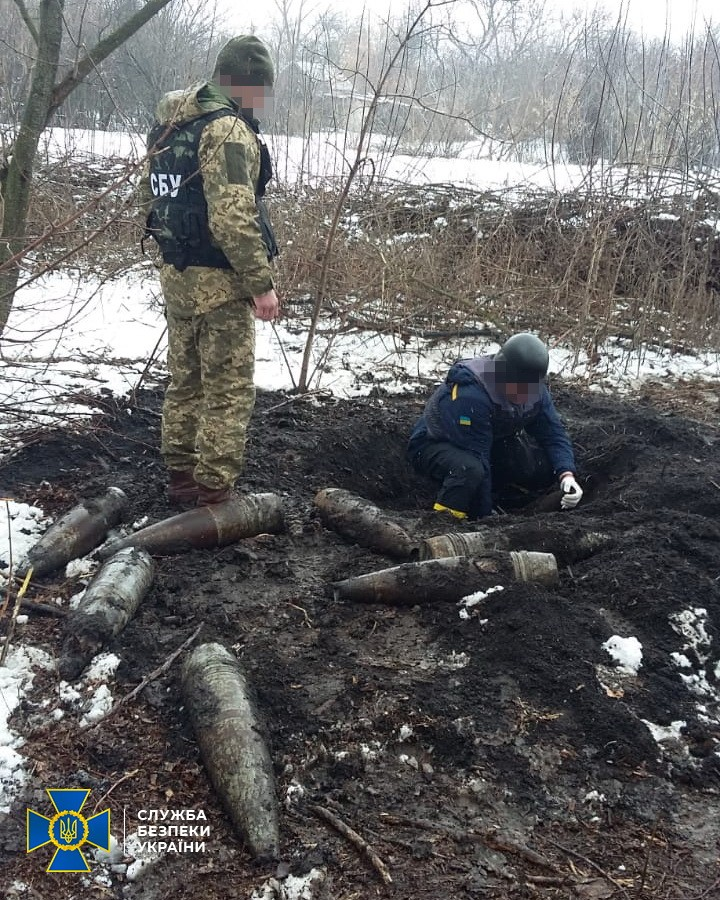 Схрон боевиков. Фото: СБУ